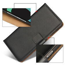 For Samsung Galaxy S8 Plus Black Genuine Leather Business Wallet Flip Case Cover