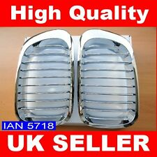 BMW CHROME KIDNEY GRILLS E46 3 SERIES 2 DOOR 1999 - 03 COUPE CONVERTIBLE M3