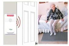 Wireless/Cordless Floor Mat and Alarm - (No Alarm Noise in Patient's Room)