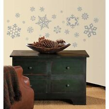 New GLITTER SNOWFLAKES WALL DECALS Christmas Stickers Decorations Winter Decor