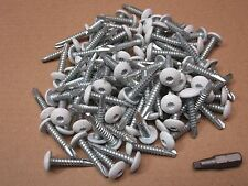 "White Cargo Trailer exterior Self Tapping Screws 100 OEM 1"" Enclosed Car Hauler"