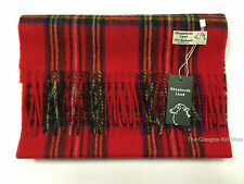 New Scottish Tartan Clan Scarf Royal Stewart 100% Pure Wool