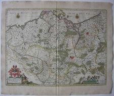 Mark Brandenburg Mecklenburg altkolor Orig Kupferstichkarte Janssonius 1650