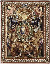 FRENCH ROYAL SHIELD TAPESTRY * Palace of Versailles Portiere Du Char De Triomphe