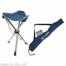 Summit Strong Camping Fishing Folding Travel Tripod Stool Chair Carry Bag Blue