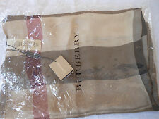 Burberry Scarf Check Modal Silk Large Color:Smoked Trench Check