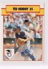 1990 T/M Autographed Baseball Card Ted Hendry Umpire