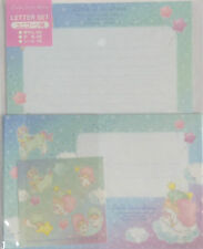 Letter Set Little Twin Stars Unicorn Blue with Sticker Sanrio Paper Stationery