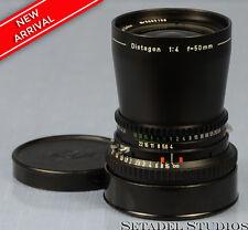 HASSELBLAD 50mm DISTAGON F4 C T* MEDIUM FORMAT LENS W/ CAPS NEAR MINT