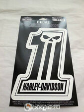 Harley Davidson Skull No.1 Number One Totenkopf Aufkleber Decal DC718303