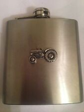 Tractor PP-T10 english pewter 6oz Stainless Steel Hip Flask