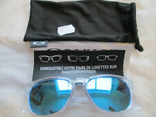 Oakley clear frame Stringer mirror sunglasses. With bag. OO9315