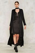 Lavish Alice Collect Call Trench Coat small black nasty gal new with tags