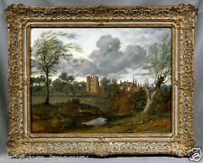 Beautiful Castle Landscape (oil on canvas signed painting)