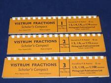 Vintage Set of VISTRUM FRACTIONS SCHOLAR's COMPACT Philograph Publications 1964