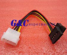 4 Pin IDE Molex to 2 Serial ATA SATA Hard Drive Power Adapter Cable wire