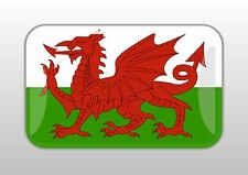 2 Stk. 3 D Wales  Fahne 4 x 2,5 cm Sticker Auto Bike Bus Caran Helm Handy Laptop