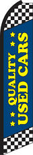 Quality Used Cars Blue Swooper Flag Feather Super Bow Banner