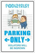 "Metal Sign Podia Trist Parking Only 8"" x 12"" Aluminum NS 488"