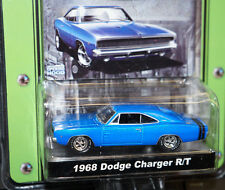 BLUE 1968 68 DODGE CHARGER R/T STOCK & CUSTOM MCG SERIES 1/64 SCALE GREENLIGHT