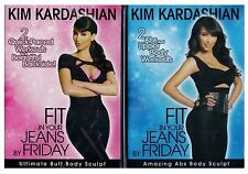 KIM KARDASHIAN NEW 2 WORKOUT DVD FIT EXERCISE ABS CURVE BUTT SHAPE HOT SEXY BODY