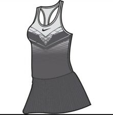 Nike Maria Dri-Fit Racer Back Tennis Dress Grey/White 800466-021  S Small P