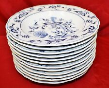 (12) Blue Danube Rimmed Soup Bowls ONION Rectangle Mark