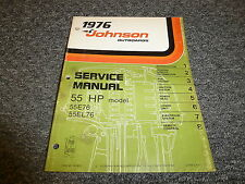 1976 Johnson 55 HP Models Outboard Motor Shop Service RepairTechnical Manual