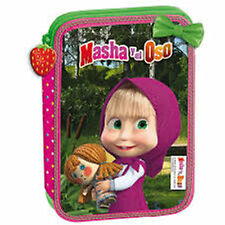 MASHA and the BEAR (6493)- Filled Pencil Case with Zip - Size: 20x13x4 cm