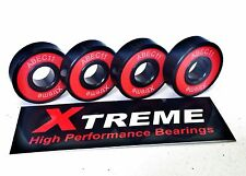 Confezione da 4 608 RS XTREME ABEC 11 ROSSI High Performance SCOOTER Set Cuscinetto + ADESIVO