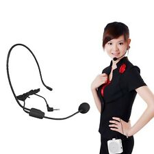 Plug to Use 3.5mm Jack Wired Headworn Microphone Voice Headworn Head-Mounted Mic
