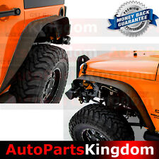 07-17 Jeep Wrangler JK Stubby Rock Crawler Metal Steel Front+Rear Fender Flares