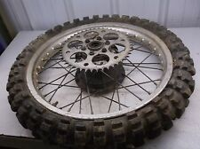 1976 Yamaha YZ 125 Rear Wheel w Sprocket NICE OEM 76 T4