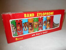 Vtg 50's-60's Taiyo JAPAN Tin TOY XYLOPHONE Band Drum & Cymbol Excellent Unused