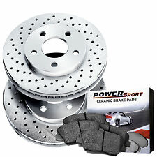 Front Drilled Brake Rotors and Ceramic Pads 2011-2015 Chevrolet Cruze,Sonic