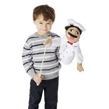 """15"""" CHEF PUPPET  Free Shipping in/USA~ Very Detailed ~ Melissa & and Doug  #2553"""