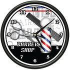 BARBER SHOP Wall Clock hair salon cutter pole gift