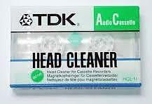 TDK Audio Cassette Head Cleaner , 6 MONTH WARRANTY