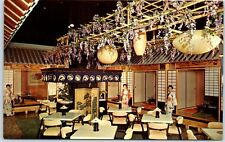 Chicago IL Postcard NAKA-NO-YA TEA HOUSE Japanese Restaurant Interior c1950s