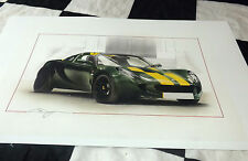 LOTUS ELISE SC type 25 Jim Clark 2008 New Art D'Impression Peinture Chris Dugan limitée