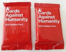NEW Cards Against Humanity 2012 & 2013 Holiday Expansion Pack Sets Sealed Cards