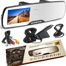 "HD 1080P 2.7"" LCD Car Camera Rearview Mirror Dash Vehicle DVR Video Recorder"