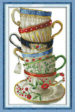"quadruple counted cross stitch kits""Coffee cup-2"""