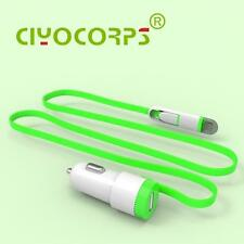 CIYOCORPS 2.4A Quality Mini USB Car Charger With 2 IN1 Cable