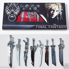 Final Fantasy Swords Weapons Keychain Pendant 8Pcs set New in Box