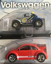 Hot Wheels 100% Volkswagen Series VW Beetle Set Of Two 1/4 And 4/4 [Real Riders]