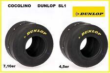 Satz Kart DUNLOP SL1 Reifen  4,5er + 7,10   5 Zoll   o . Felgen Achse Kartreifen