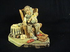 Naturecraft Figurine, Grandad's Darling, Baby Had An Accident On Grandpa # 830