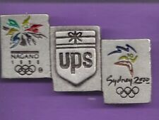 2000 1998 UPS Sydney Nagano Olympic Bridge Pin
