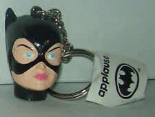 1992 Applause DC Comics Batman Returns Catwoman Head Keychain Key Chain